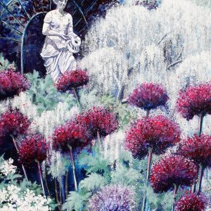 Amongst the Alliums (canvas print)