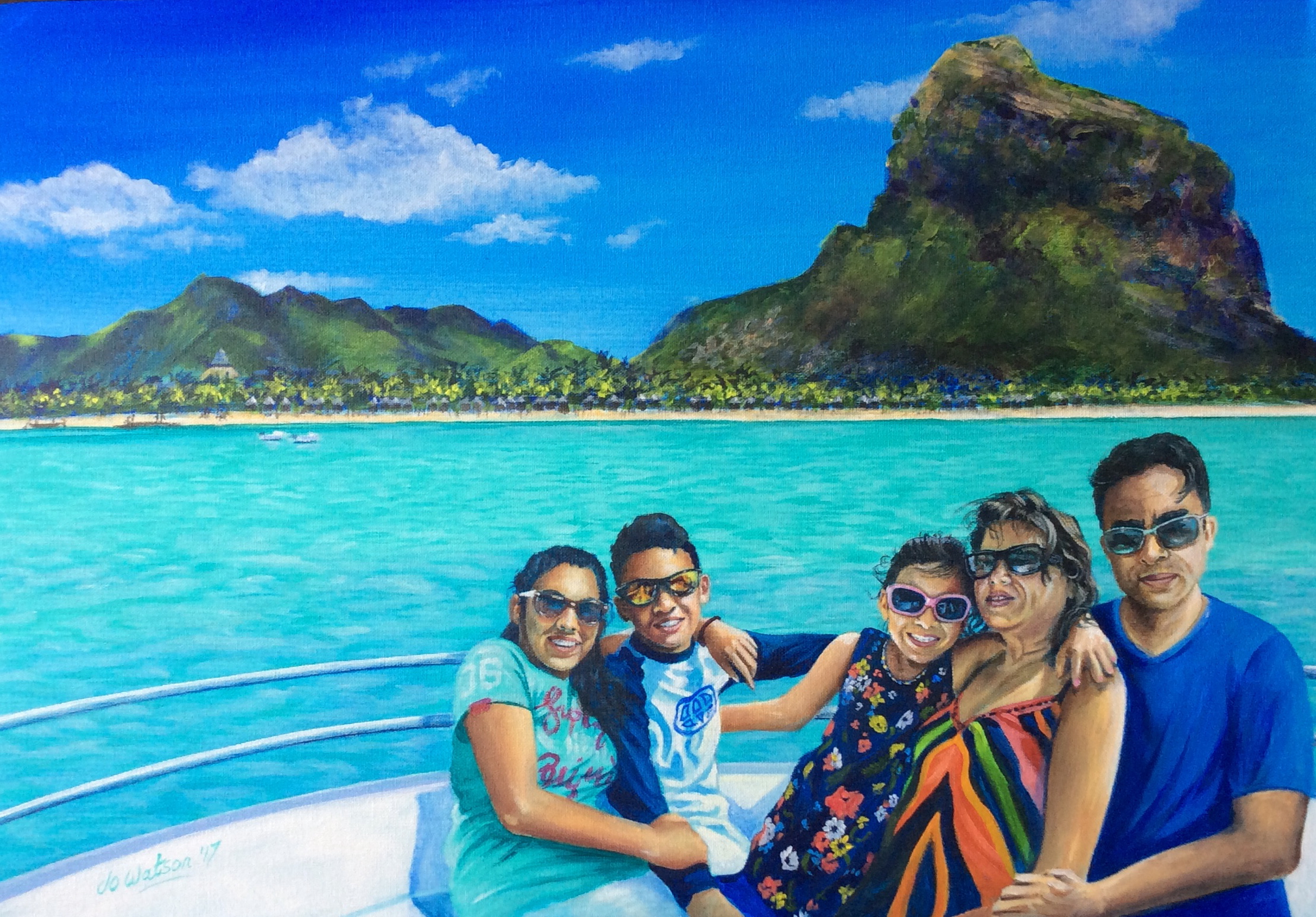 Family Memories in Mauritius (commission)