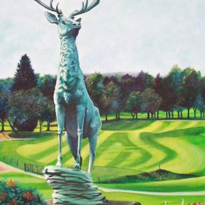 The Stag at Trentham Park Golf Club (canvas print)