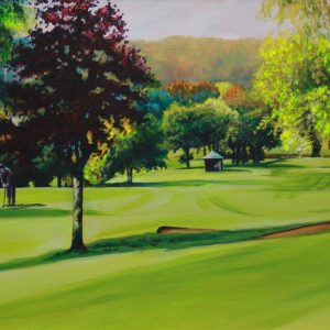 On the 15th at Trentham (canvas print)