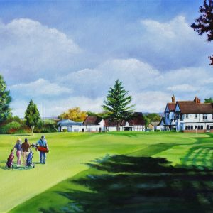 Trentham Clubhouse (canvas print)