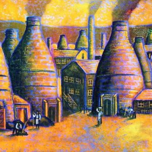 Tribute to the Potteries (canvas print)