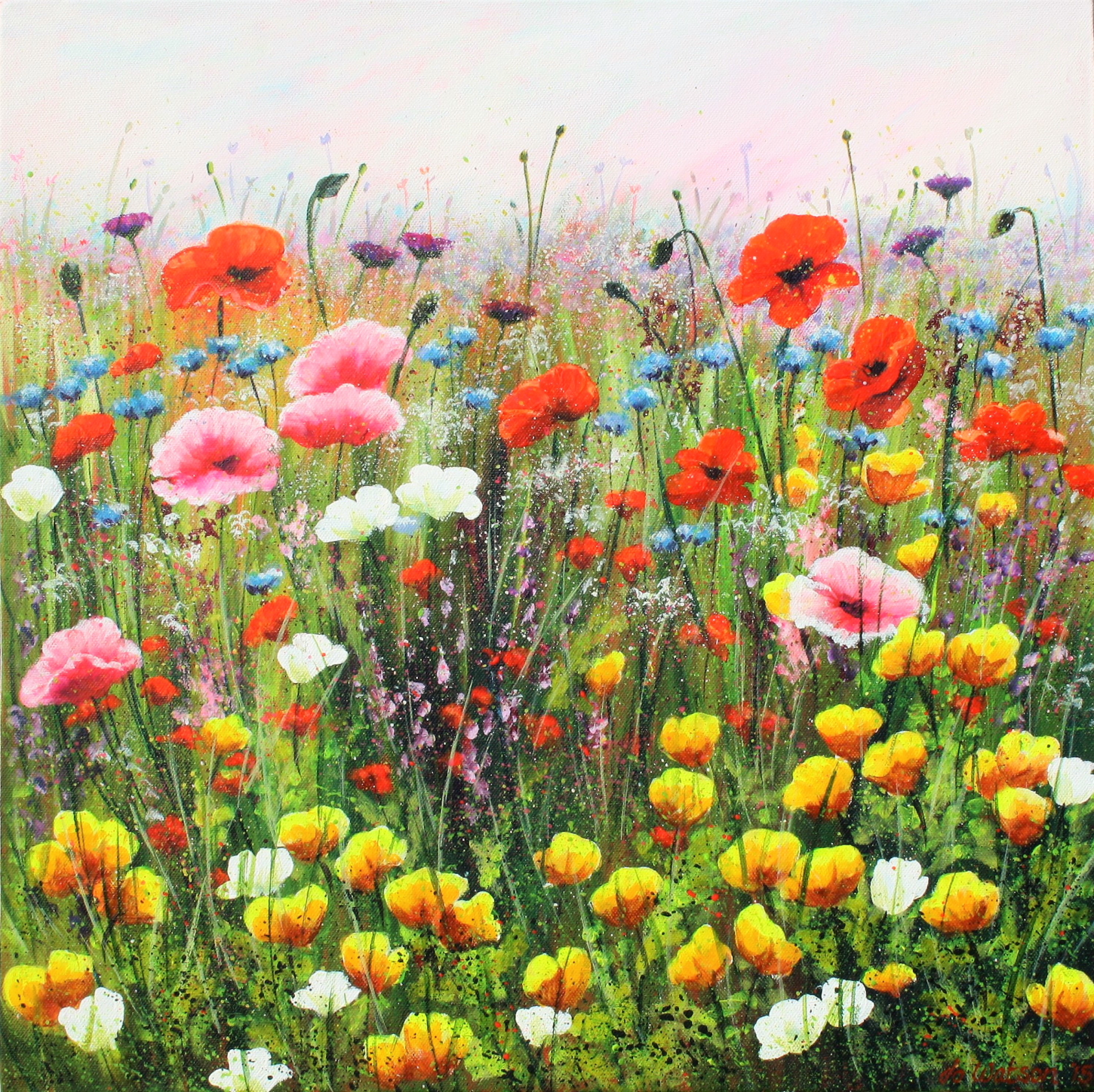 Wild Flower Meadow Canvas Print Jo Watson Canvas Art