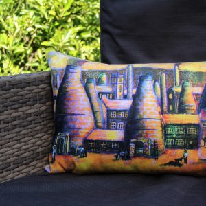 Tribute to the Potteries Cushion Cover